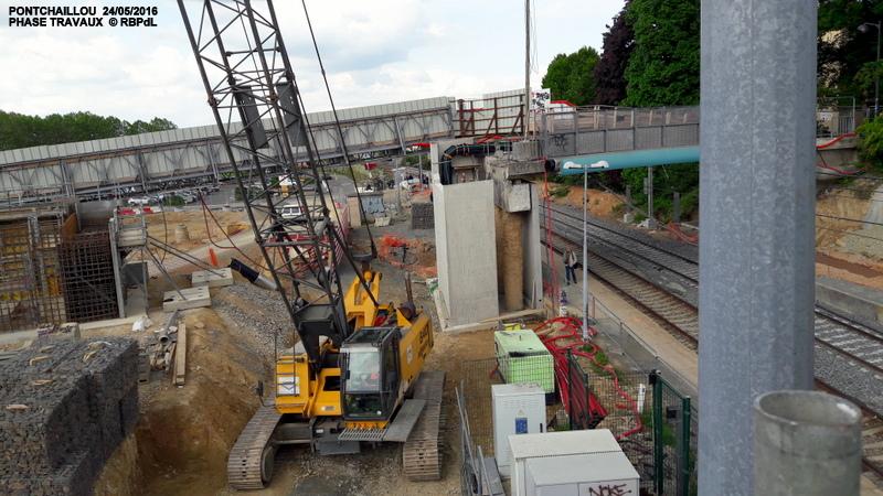 Halte de Pontchaillou, suite phase travaux - mai 2016 20160593