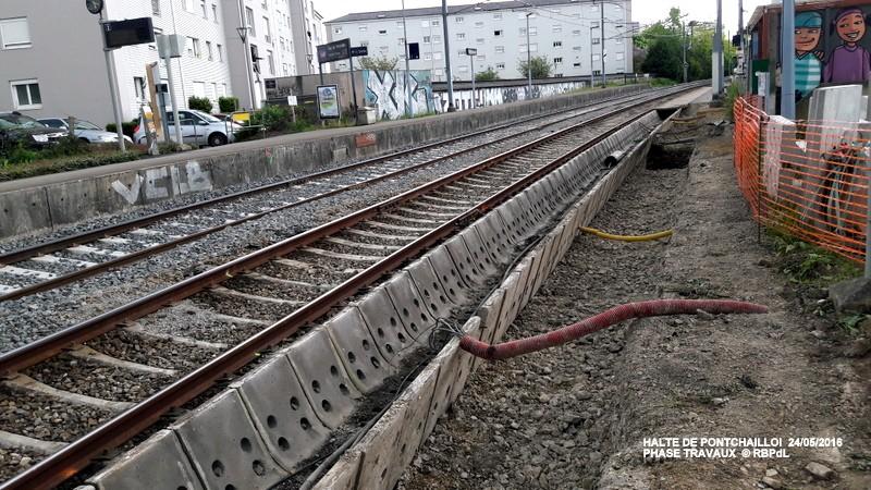 Halte de Pontchaillou, suite phase travaux - mai 2016 20160595