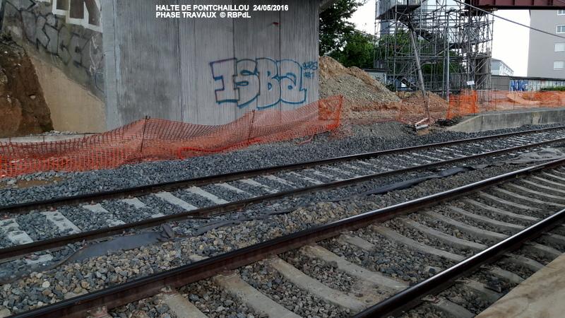 Halte de Pontchaillou, suite phase travaux - mai 2016 20160596