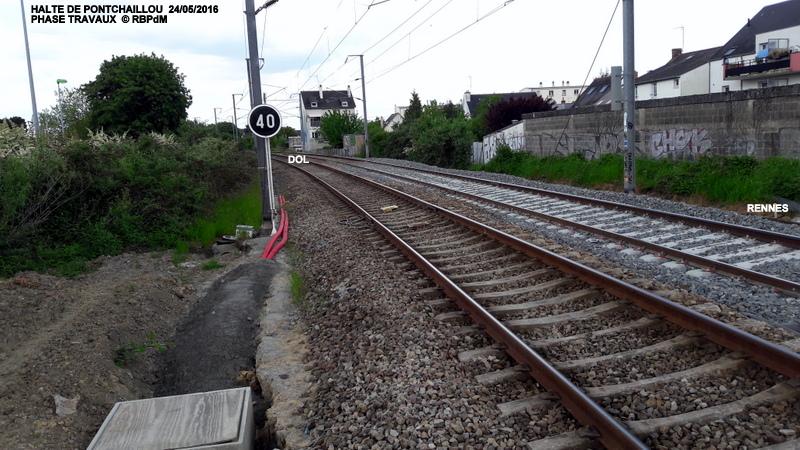 Halte de Pontchaillou, suite phase travaux - mai 2016 20160597