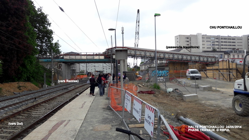 Halte de Pontchaillou, suite phase travaux - mai 2016 20160599