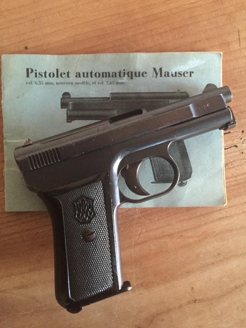 Mauser 1910 calibre 6.35 - NEUTRALISE - identification de poinçon 03010