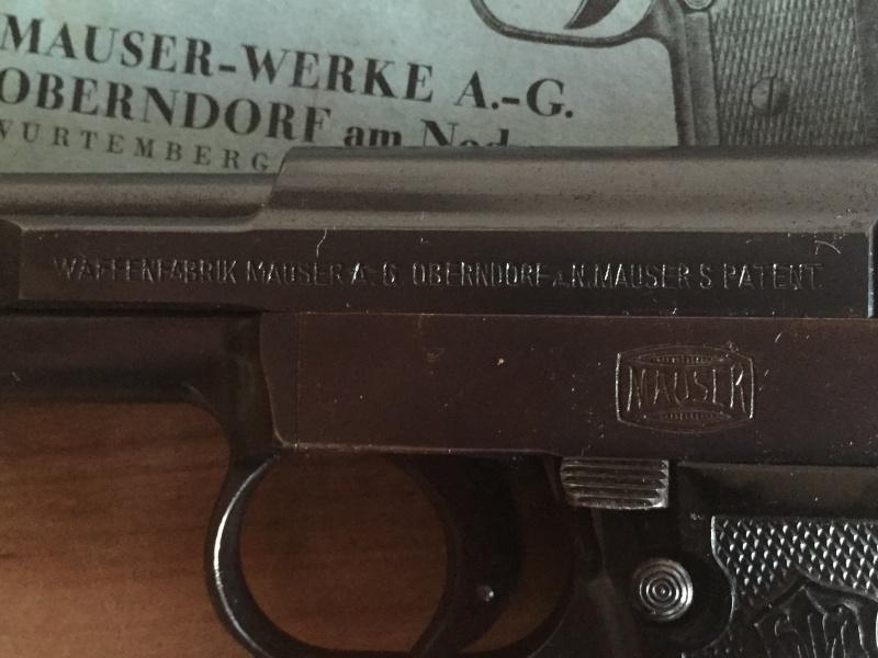Mauser 1910 calibre 6.35 - NEUTRALISE - identification de poinçon 03210