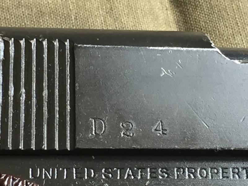 Colt 1911 A1 1943 - identification d'un marquage 05710