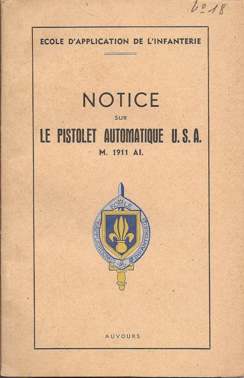 Manuel technique français 1947 PA 1911A1 Numyri10