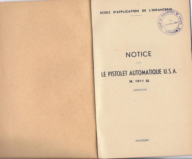 Manuel technique français 1947 PA 1911A1 Numyri11