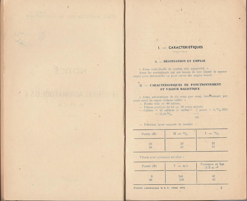 Manuel technique français 1947 PA 1911A1 Numyri12