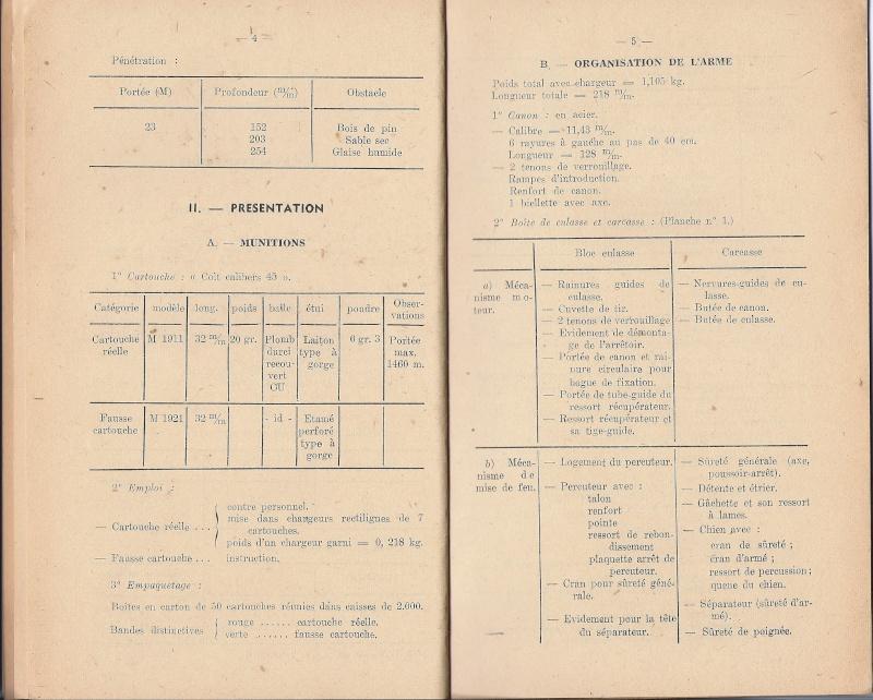 Manuel technique français 1947 PA 1911A1 Numyri13