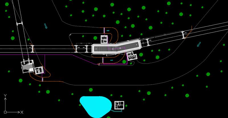 Dessins techniques, Plans 2D remontées mécaniques 2d_111
