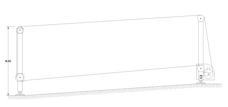 Dessins techniques, Plans 2D remontées mécaniques 2d_410