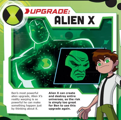 Alien X can create and destroy universes by Reality Warping 48558111