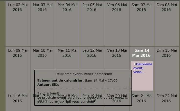 Un calendrier pour s'organiser Calend12