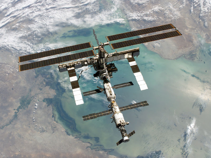 ISS News ~ Is the space station over you now?  Iss50610