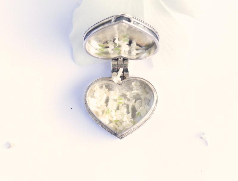 Peridot Heart Locket Necklace Hl410