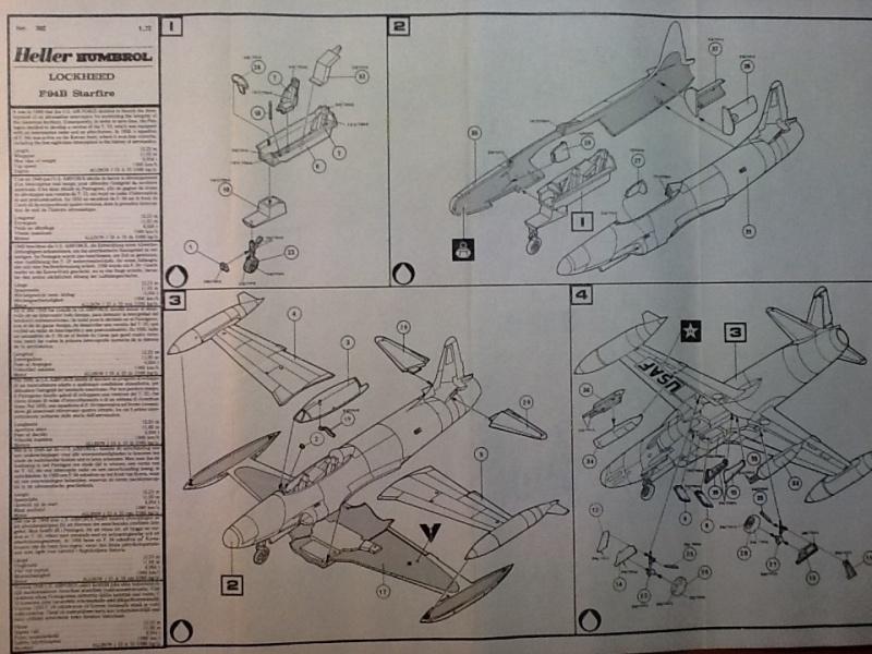 LOCKHEED F 94 B STARFIRE 1/72ème Réf 302 Helle148