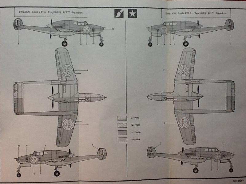 SAAB J 21 A 1/72ème Réf 80261 Notice Helle341