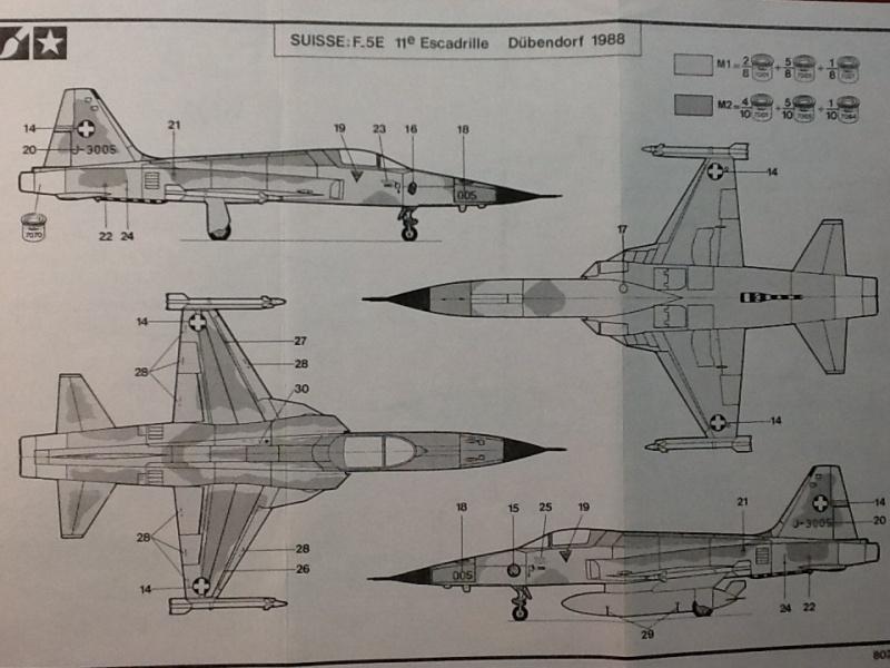 NORTHROP F5 E TIGER II -1/72ème Réf 279 Helle345