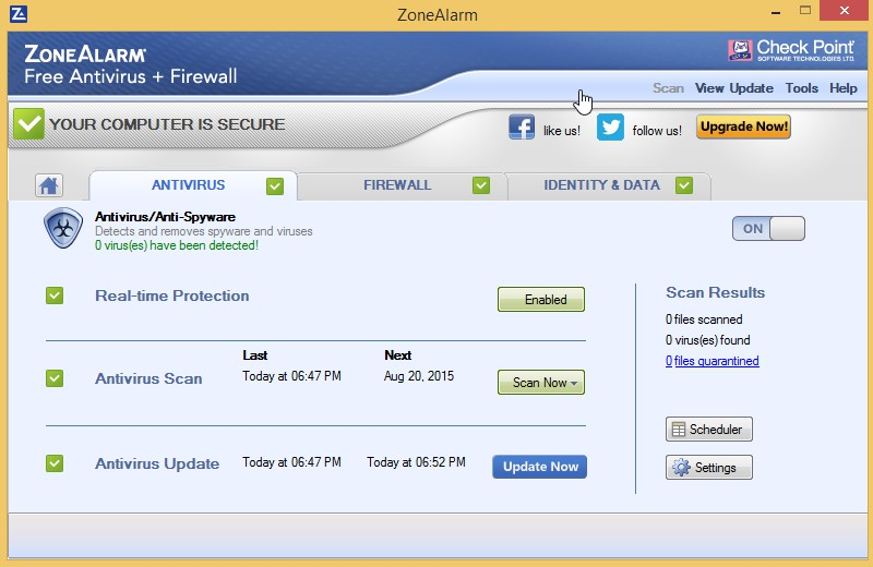 ZoneAlarm Free Antivirus + Firewall 15.8.139.18543 1014