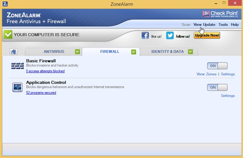 ZoneAlarm Free Antivirus + Firewall 15.8.139.18543 1112
