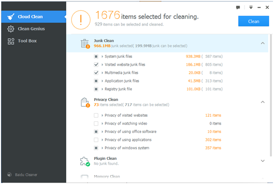 Baidu Cleaner 6.0.4.144331 Beta 14238011