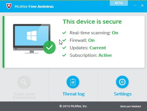 [ΝΕΟ] McAfee Free Antivirus 0.5.107.1 Beta 164