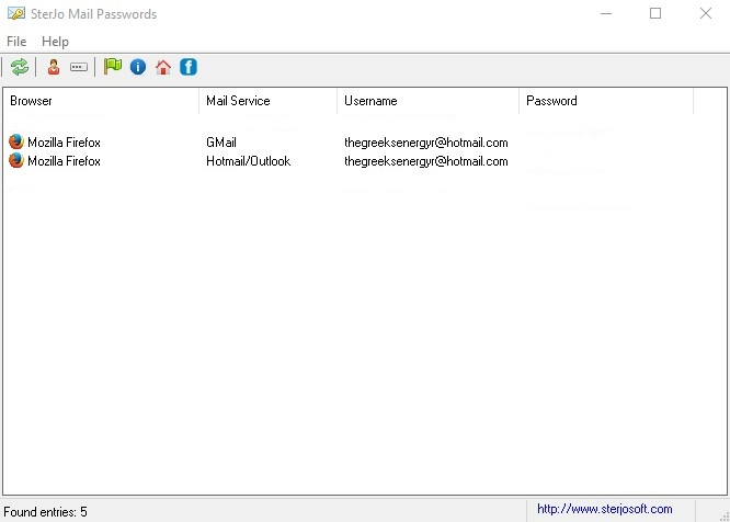 SterJo Mail Passwords 1.1  191