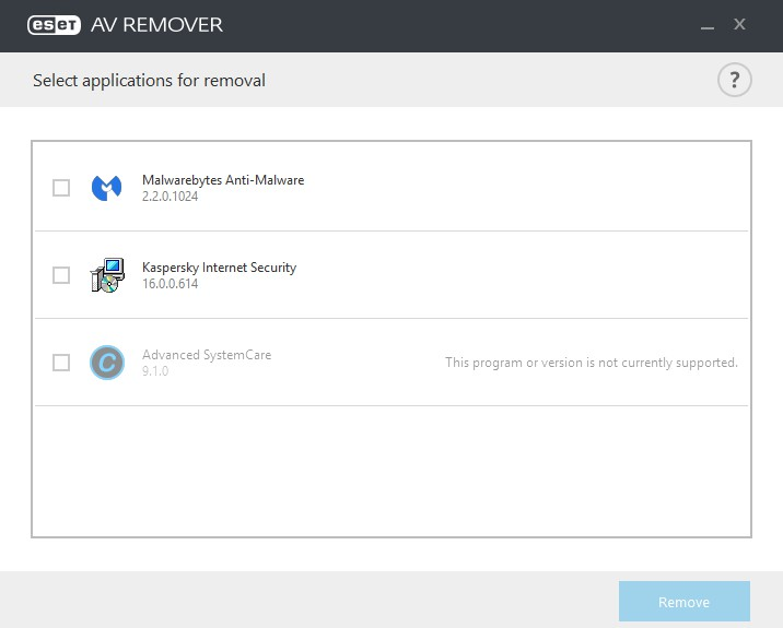ESET AV Remover 1.5.3.0 2102