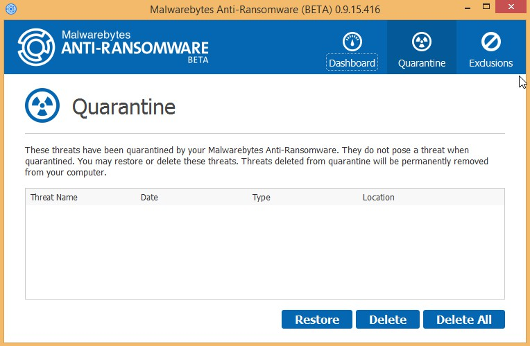 Malwarebytes Anti-Ransomware 0.9.18.807 Beta 9 222