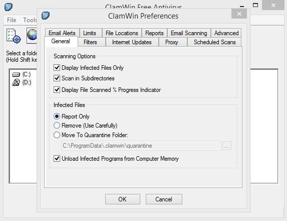 ClamWin Free Antivirus 0.99.4 282