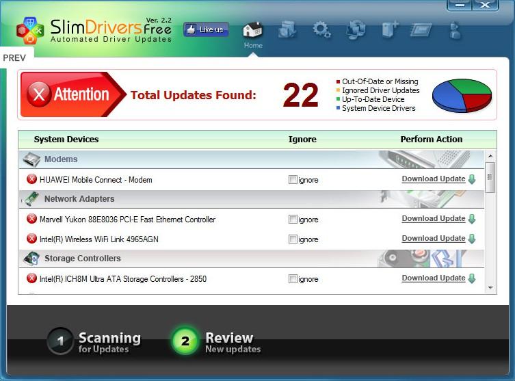 SlimDrivers 2.3.2 - Αναβαθμίστε τους drivers του υπολογιστή σας!  360
