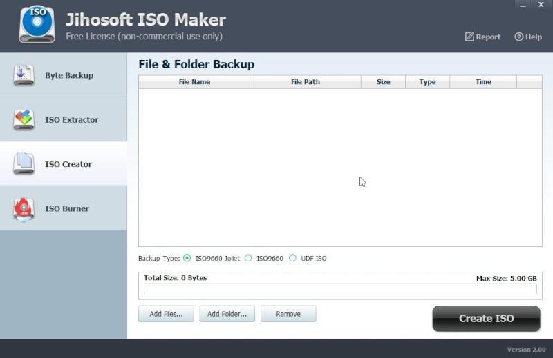 Jihosoft ISO Maker Free 2.00 445