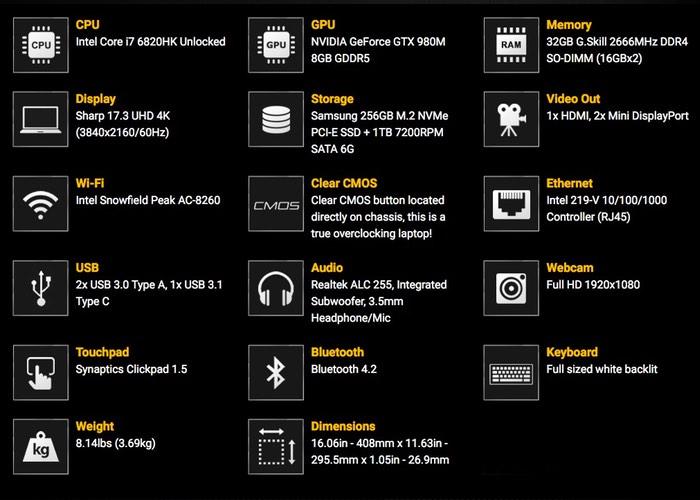 EVGA SC17 Gaming Laptop 4k-gam10