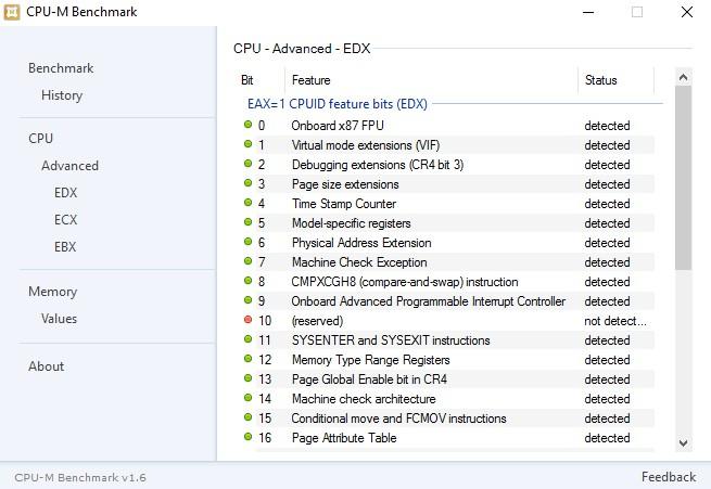 CPU-M Benchmark 1.6.0.0 516