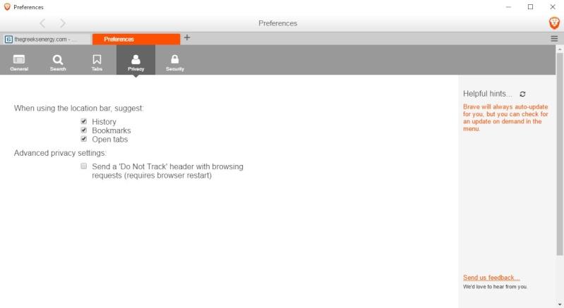 Brave 0.17.13 Dev - Ασφαλή περιήγηση χωρίς διαφημίσεις 535
