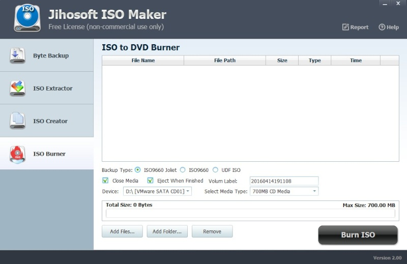 Jihosoft ISO Maker Free 2.00 536
