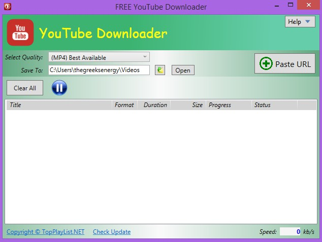 Free YouTube Downloader 4.3.7.7 617