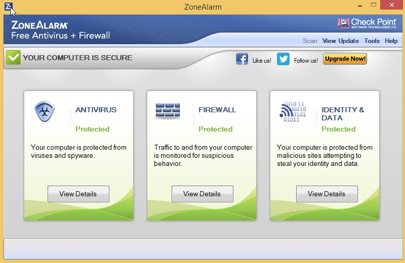 ZoneAlarm Free Antivirus + Firewall 15.8.163.18715 913
