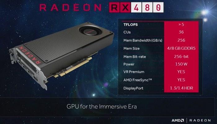 AMD RX 480: Νέα καρτα γραφικών με τιμή $ 199  Amd-rx10
