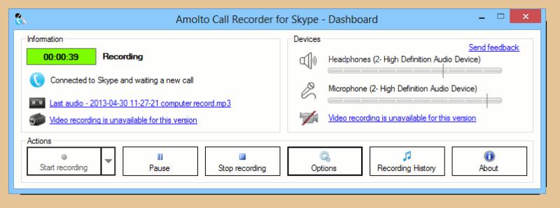 Amolto Call Recorder for Skype 3.0 Amolto10