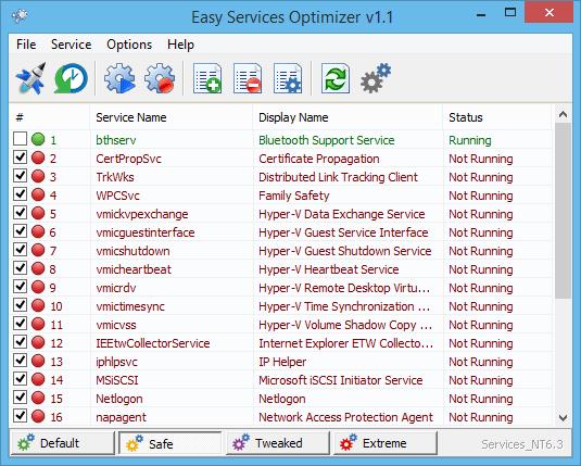Easy Services Optimizer 1.2 - Απενεργοποιήστε περιττές υπηρεσίες στα Windows Eso_ma10