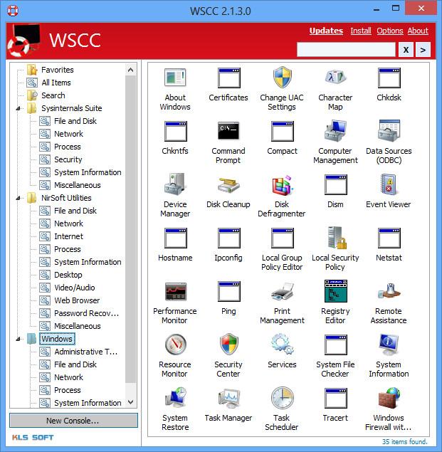WSCC - Sysinternals Control Center 4.0.0.0 Window14