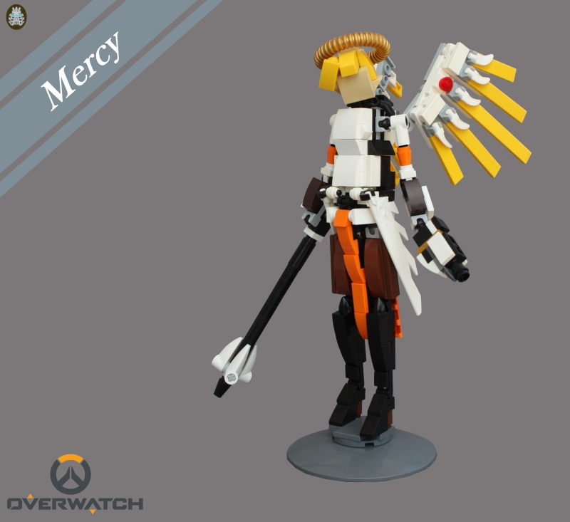 [MOC] Angela Ziegler aka Mercy. LEGO Overwatch.[micro update] Displa12