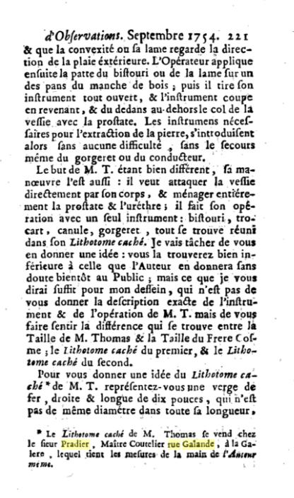 Monsieur PRADIER 1830, 22 rue Bourg l'Abbé Paris P00110