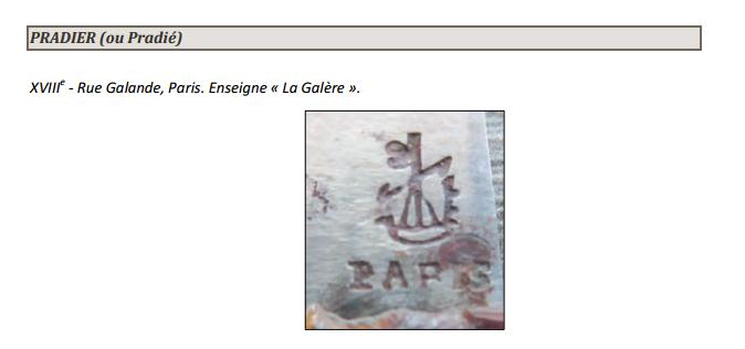 Monsieur PRADIER 1830, 22 rue Bourg l'Abbé Paris P00510