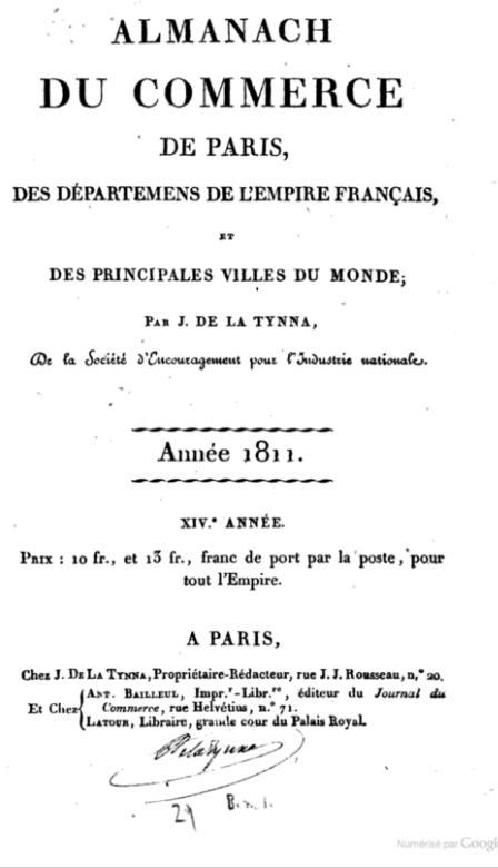 Monsieur PRADIER 1830, 22 rue Bourg l'Abbé Paris P00710