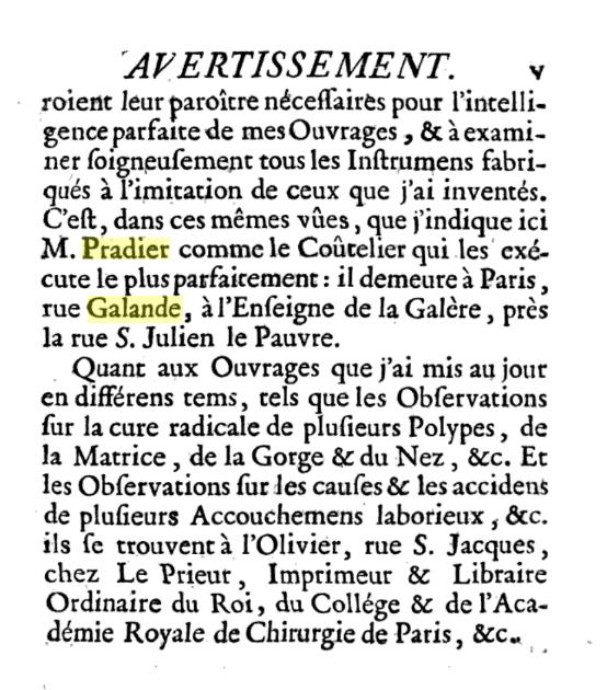 Monsieur PRADIER 1830, 22 rue Bourg l'Abbé Paris P00910