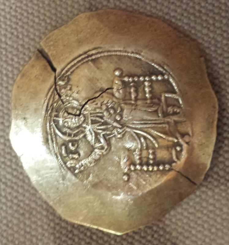 Byzantine en électrum ... ? Oui Aspron trachy (scyphate) de Jean II Comnène 20160517