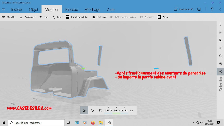 Camion Zil 131 6x6 impression 3D avec balancier totalement fait maison - Page 2 1-cabi11