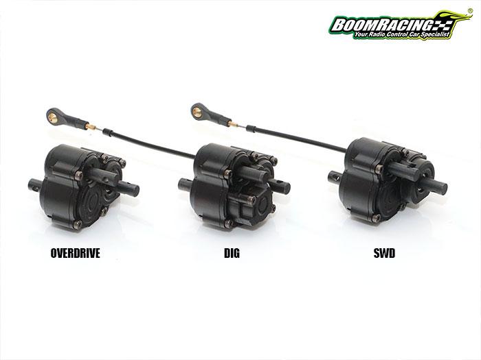 3 Nouvelles boites de transfert Boom Racing à double sorties Overdrive, Dig, 2WD et 4WD, Anti torque twist 114