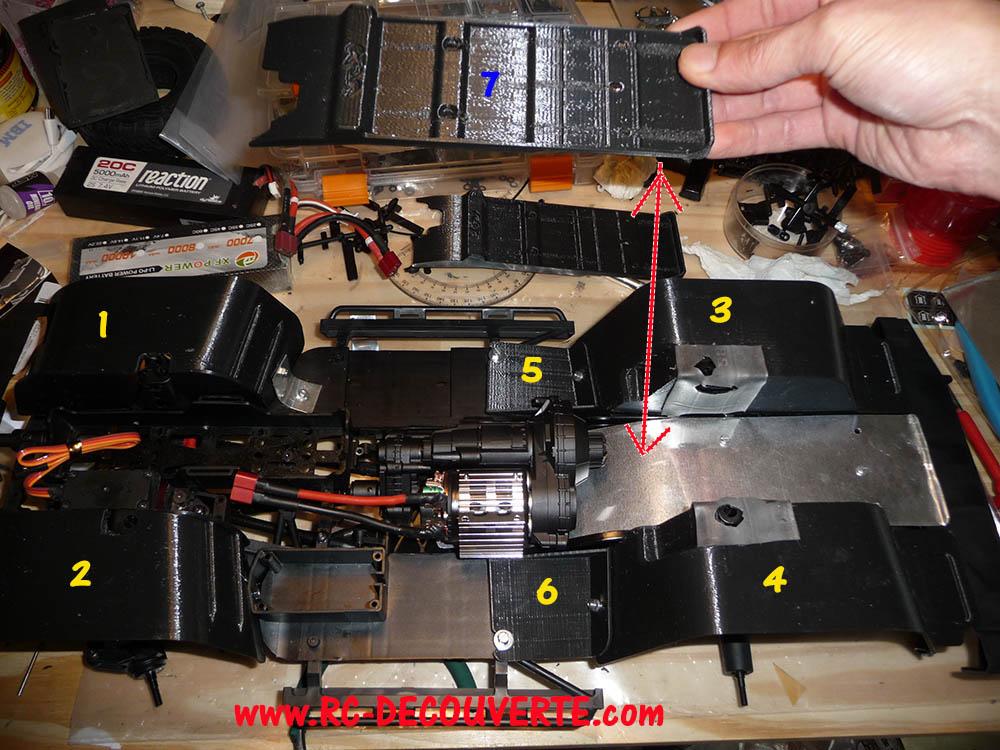 Garde boue 3D et de Passage de roue 3D pour Axial SCX10 II et Scx10 ancienne génération 13-pie10
